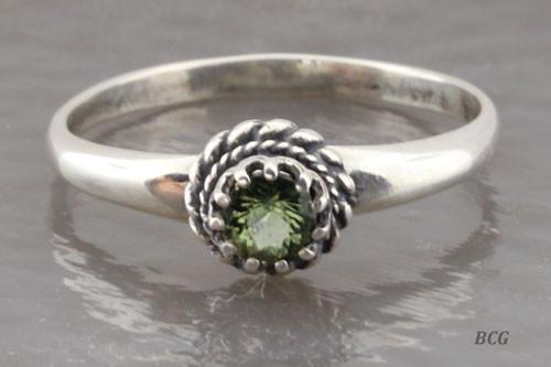 Genuine Moldavite Ring #0617