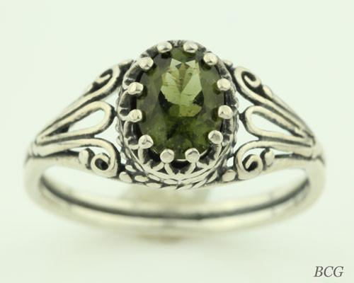 Genuine Moldavite Ring #0618