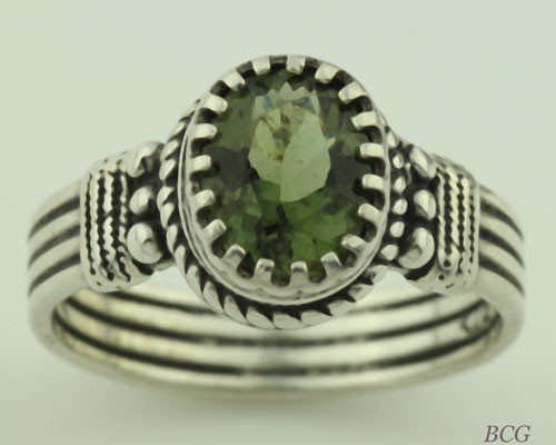 Genuine Moldavite Ring #0619