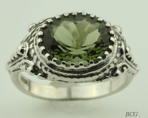 Genuine Moldavite Ring #0621