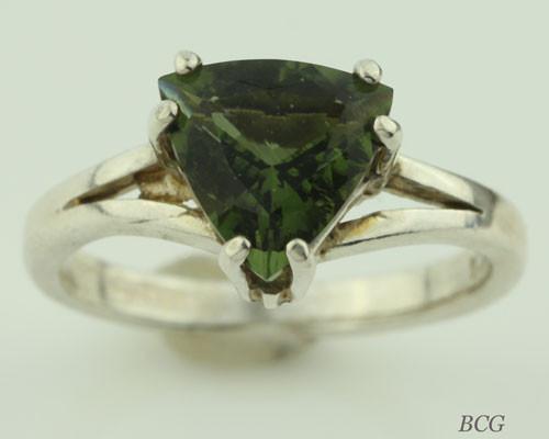 Genuine Moldavite Ring #0631