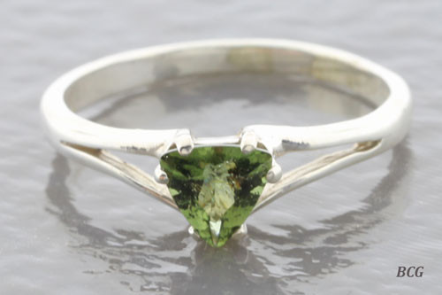 Genuine Moldavite Ring #0632