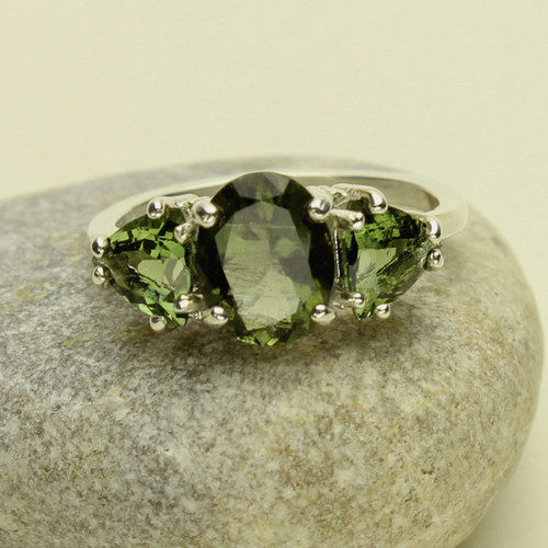 Genuine Moldavite Ring #0633
