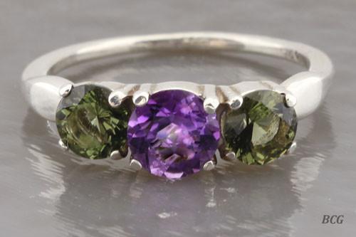 Genuine Moldavite Ring #0637!