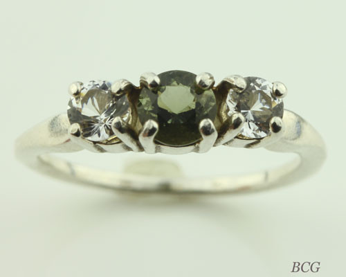 Genuine Moldavite Ring #0638