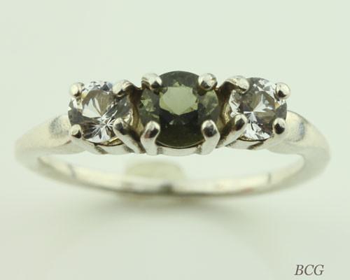 Genuine Moldavite Ring #0638