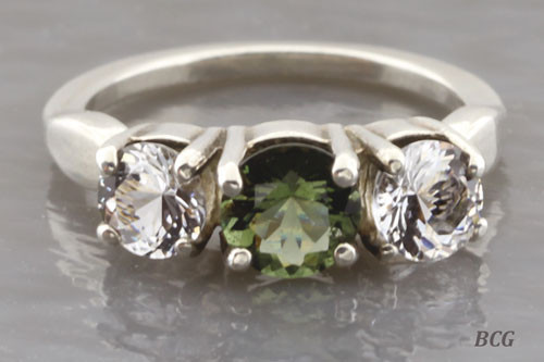 Genuine Moldavite Ring #0639