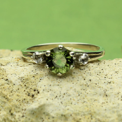 Genuine Moldavite Ring #0643!