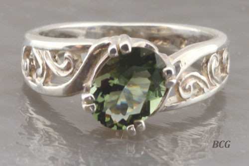Genuine Moldavite Ring #0671!