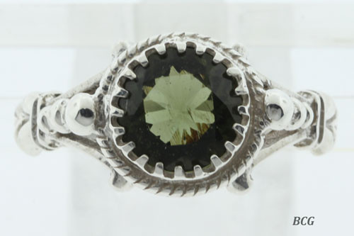 Genuine Moldavite Ring #0733!