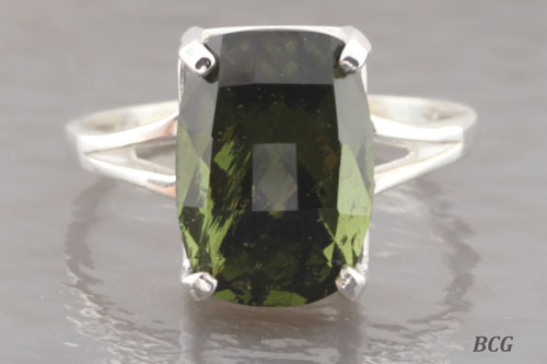 Genuine Moldavite Ring #0757!