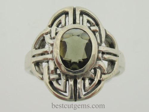 100% Genuine Moldavite Ring #0758