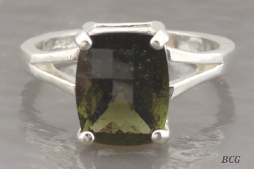 Genuine Moldavite Ring #0759!