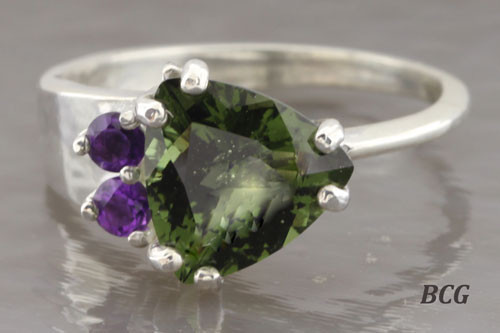 Genuine Moldavite Ring #0760!