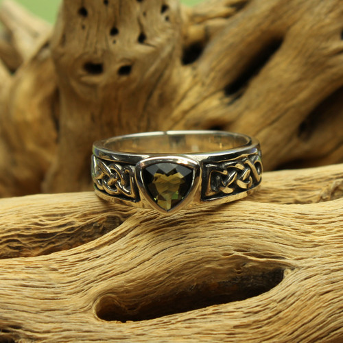 100% Genuine Moldavite Ring #3821