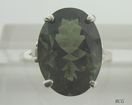 Genuine Moldavite Ring #606!