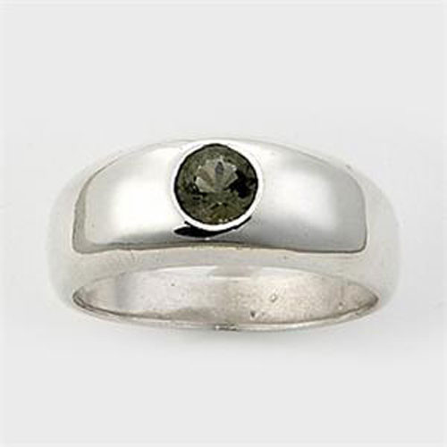 Genuine Moldavite Men's Ring #615