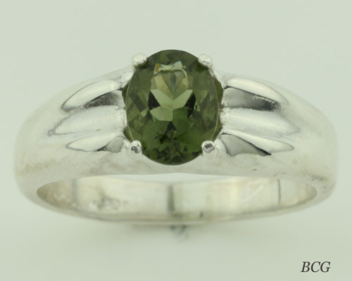 Genuine Moldavite Men's Ring #616