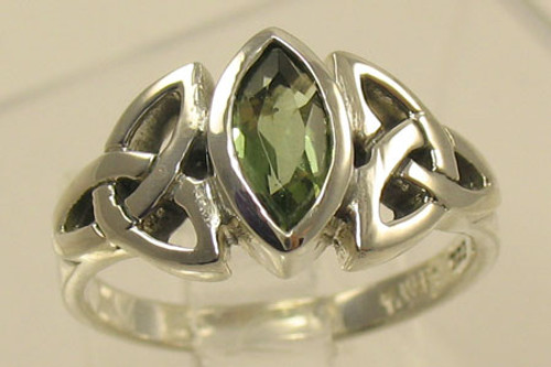 Genuine Moldavite Ring #709