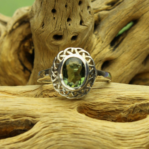 Genuine Moldavite Ring #712