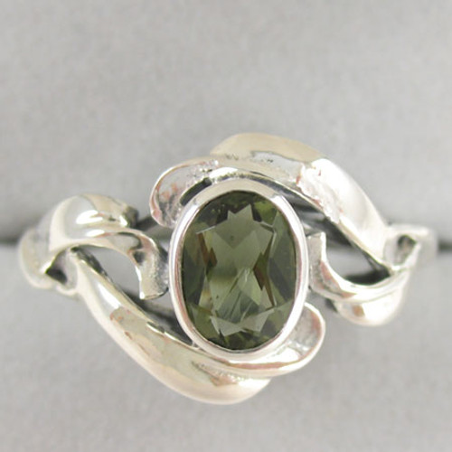 Genuine Moldavite Ring #714