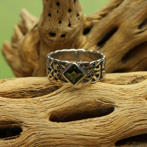 Genuine Moldavite Ring #734