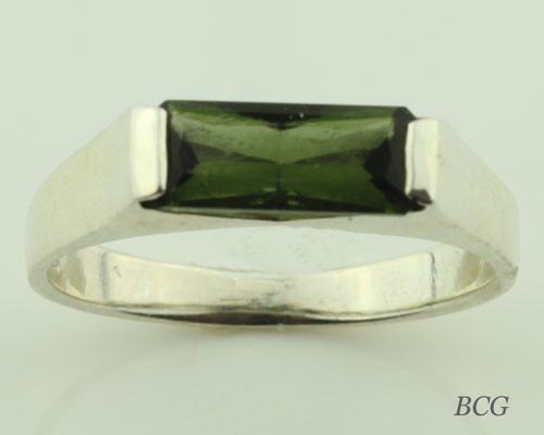 Genuine Moldavite Unisex Ring #7355