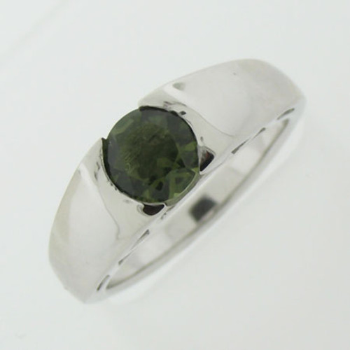 Genuine Moldavite Ring #736