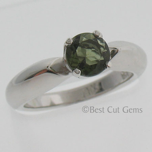 Genuine Moldavite Ring #760