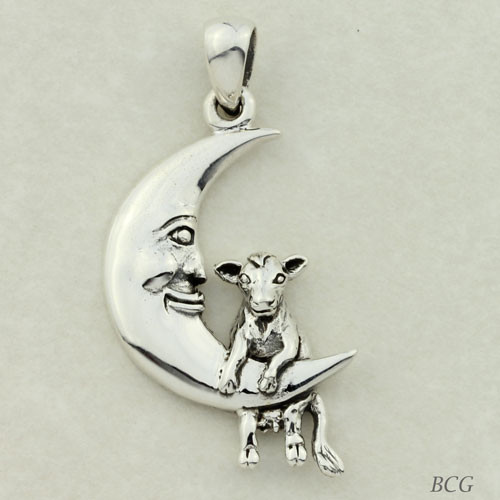 Moonflower the  Moo-n Cow Pendant TPD-4148