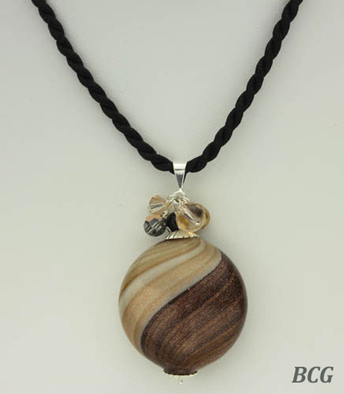 Morano Swirl Glass Necklace #1187