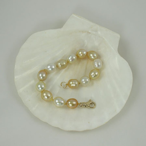 Multi Colored South Sea Pearl Bracelet