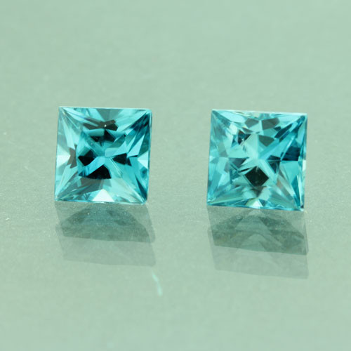 Pair of Blue Zircons #G-2451