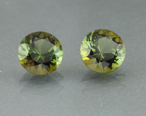 Matched pair of Vivid Green Tourmalines #G-2435