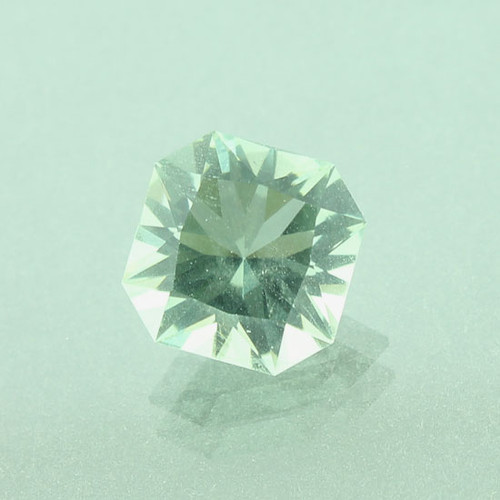 Green Prasiolite #G-2380  Custom faceted