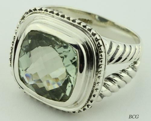 Prasiolite Ring #PR-0135