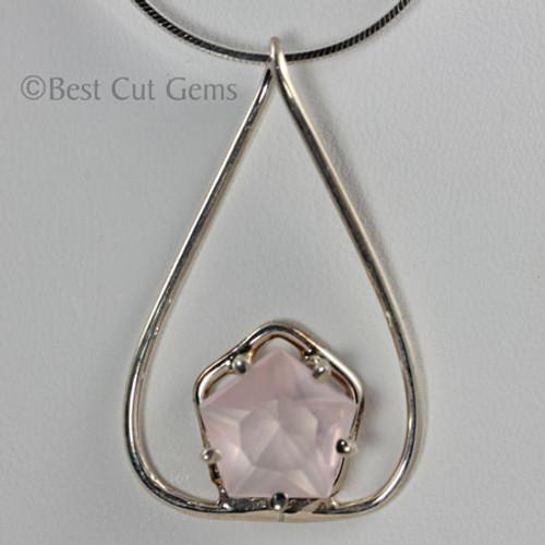 Custom faceted Rose Quartz Necklace #126