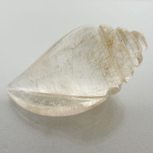Rutilated Quartz Sea Shell #IT-940