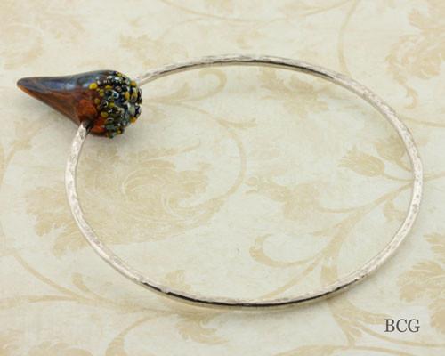 Silver Bangle Bracelet #2196