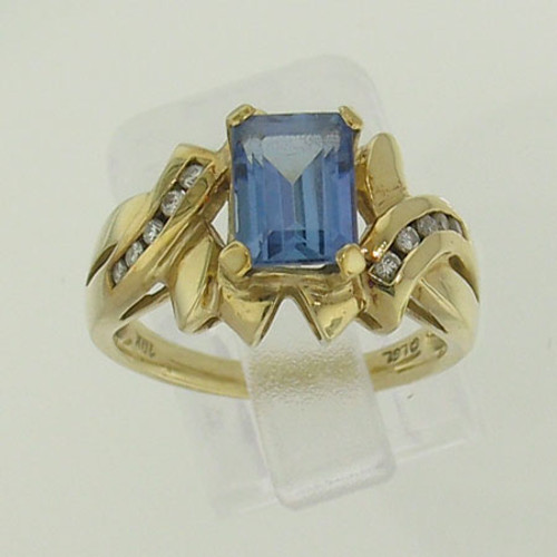 Tanzanite & Diamond Ring #RI-116