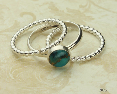Turquoise Stacking Ring Set #RI-308