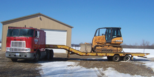 My Last Truck, Lowboy Trailer and Case 850K Bulldozer
