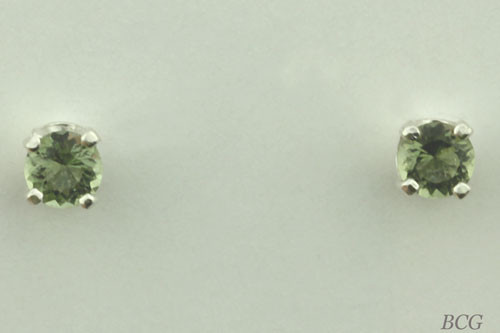Genuine Moldavite Earrings #646