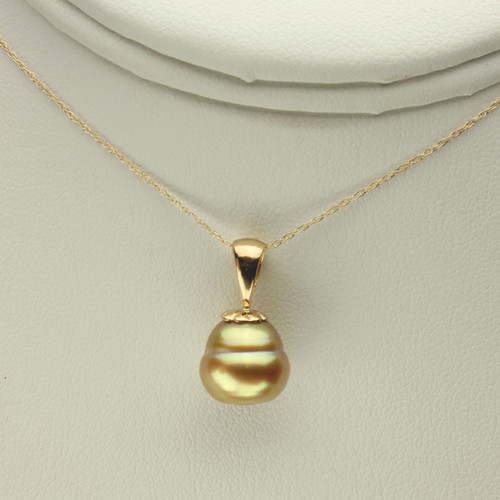 Golden South Sea Pearl Necklace GP-1134