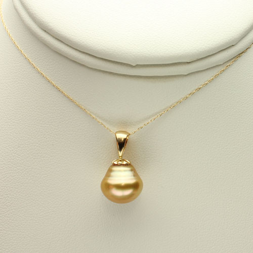 Golden South Sea Pearl Necklace GP-1137