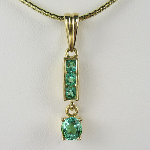 Emerald Pendant & Chain #282