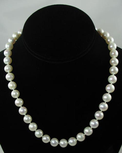White Akoya Pearl Strand #509