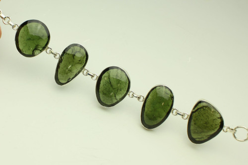 Beautiful Moldavite Bracelet #BR-1075