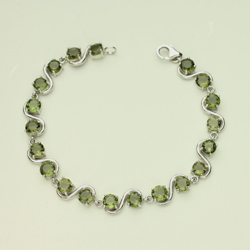 Beautiful Moldavite Bracelet #BR-1073