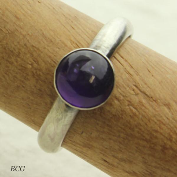 Amethyst Sterling Silver Ring #RI-317